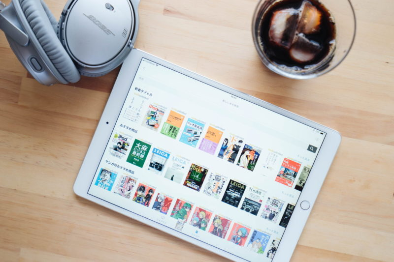 Kindle unlimitedのタブレットのイメージ