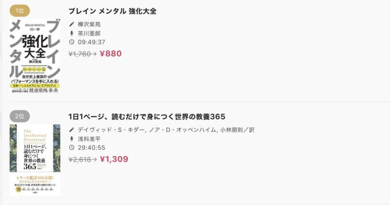 audiobook.jpの割引