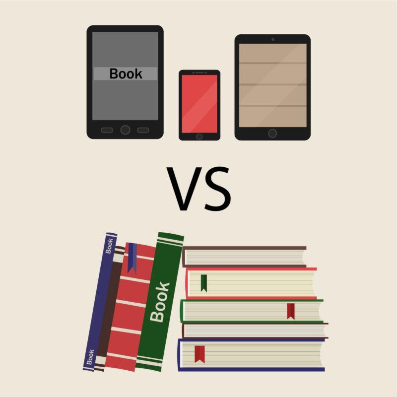 電子書籍のメリットとデメリットの比較イメージ