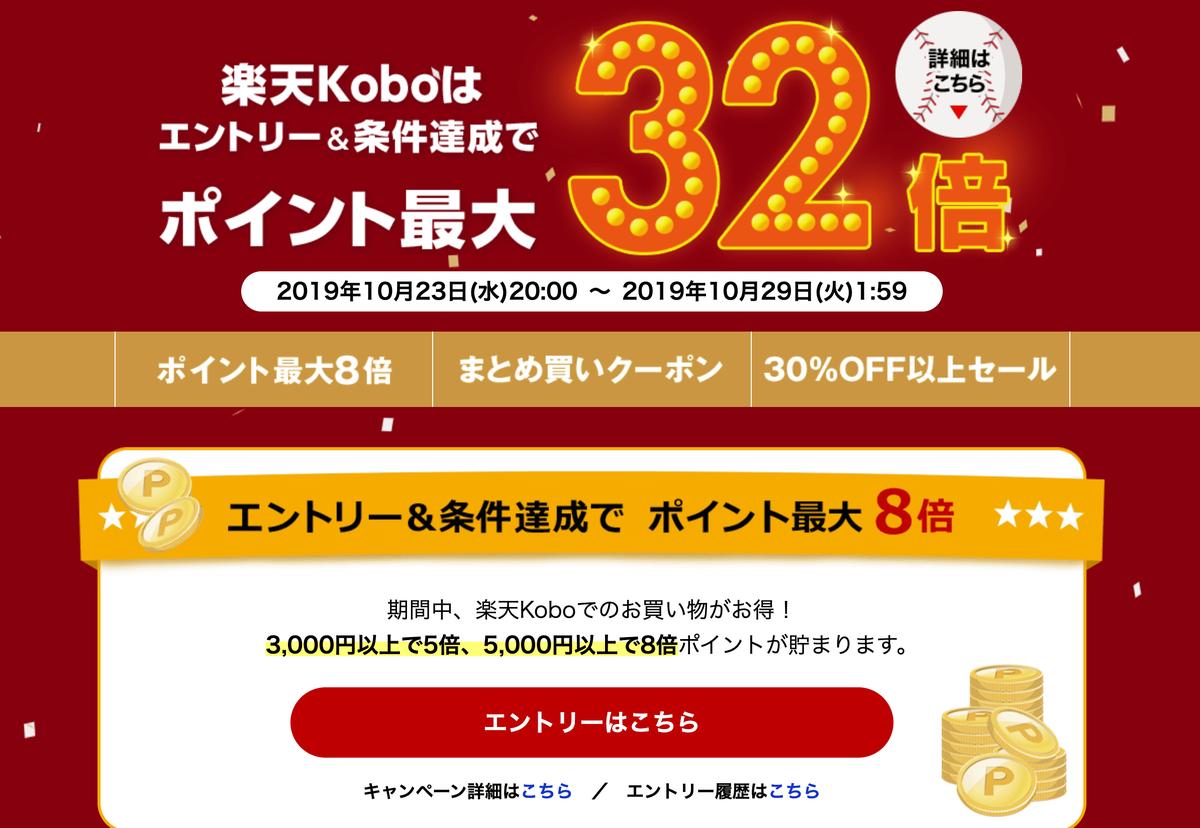 楽天koboの楽天ポイントキャンペーン
